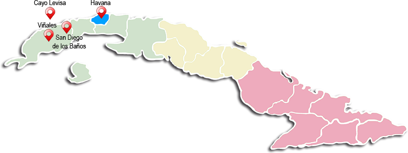 Map of AUTENTICA CUBA