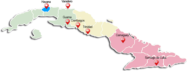 Map of CUBA, UNA ISLA FASCINANTE
